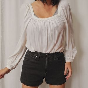 A New Day square neck peasant top